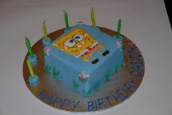 6th birthday cake Spongebob