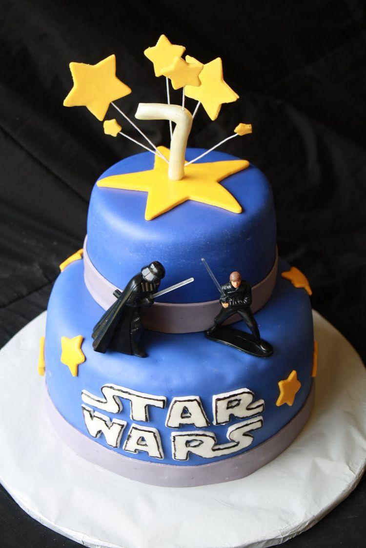 Square Th Star Wars Birthday Cake Decorations