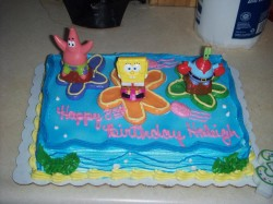 8th birthday Spongebob cake