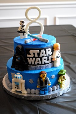 8th birthday star wars cake