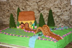 Beautiful cake with Dora