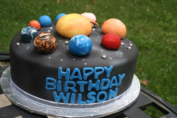 Planet Cake Images : Birthday cake with planets