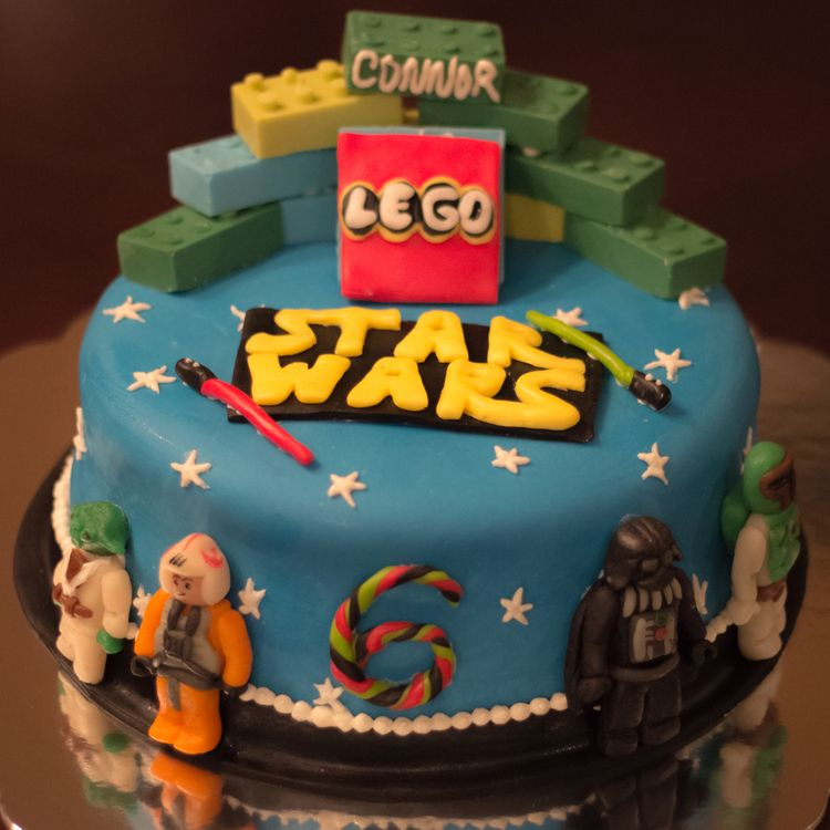 Birthday Lego Star Wars Cake