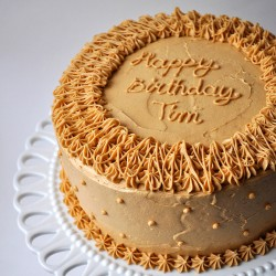 Birthday peanut butter cake