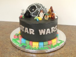 Black Star wars cake
