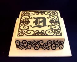 Black cricut cake