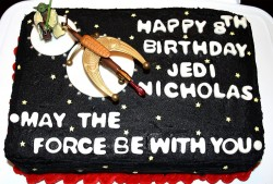 Black square star wars cake