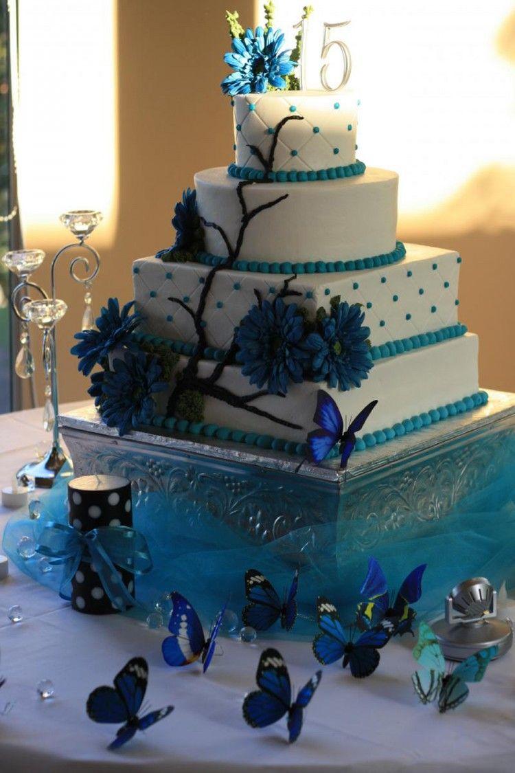 Quinceanera Cakes Turquoise