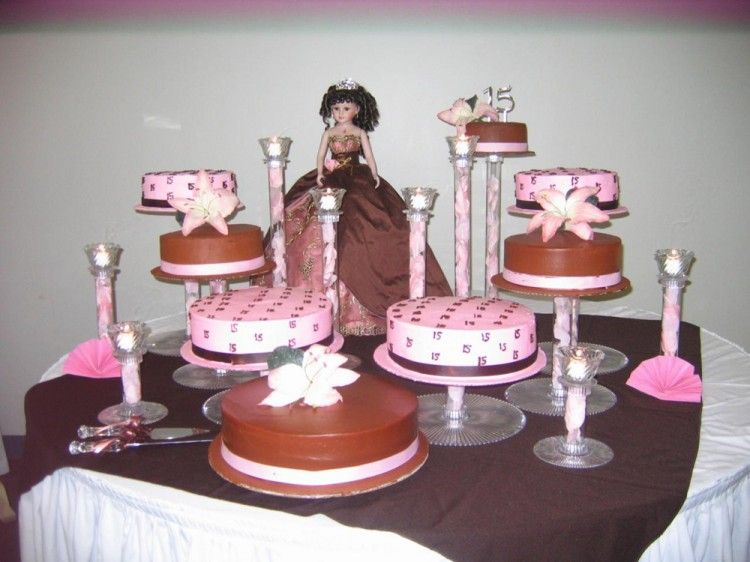 Brown quinceanera cake