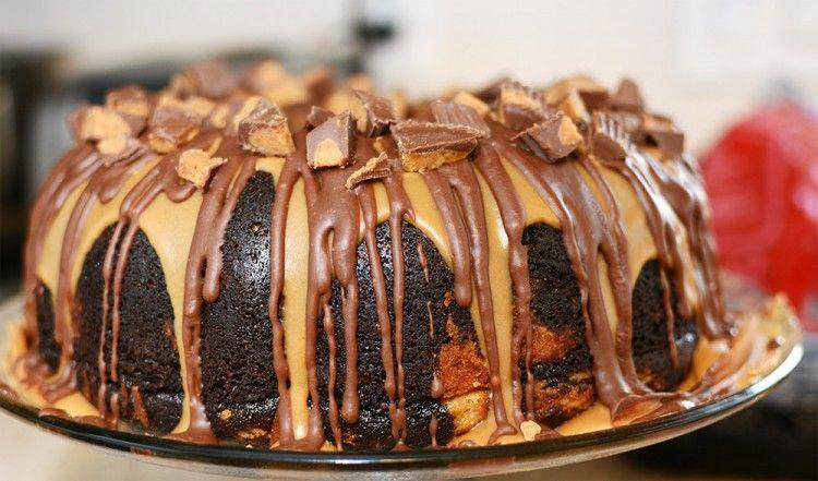 Bundt peanut butter cake