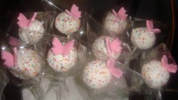 Butterfly white cake pops