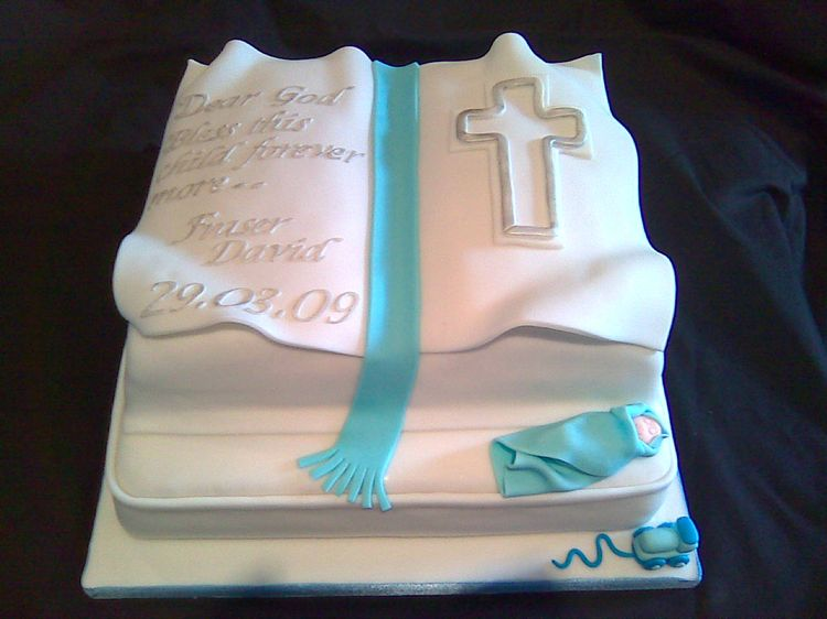 Cake Decoration Ideas For Church : Christening cake   book