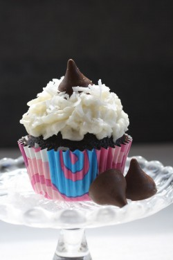 Coconut and chocolate cupcake