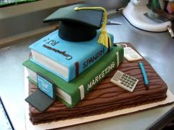 Creative graduation cake
