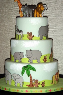 Cricut animals cake