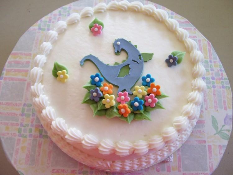 Cricut dragon cake