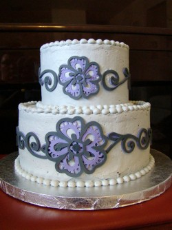 Cricut flower cake