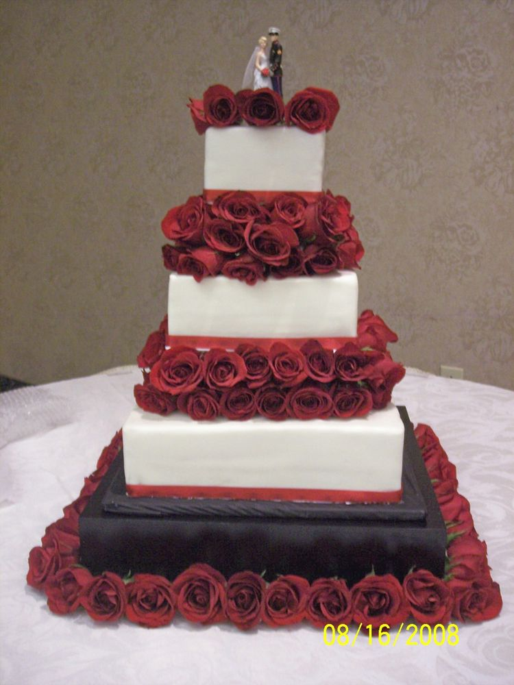 Size And Width Of  Tier Wedding Cakes