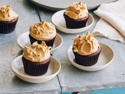 Delicious peanut butter cupcakes