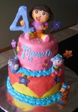 Dora cake for 4th birthday