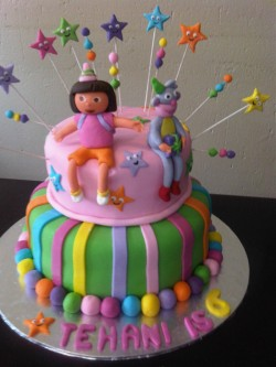 Dora cake for Tehani