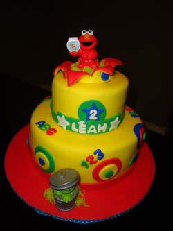 Elmo cake for girls birthday
