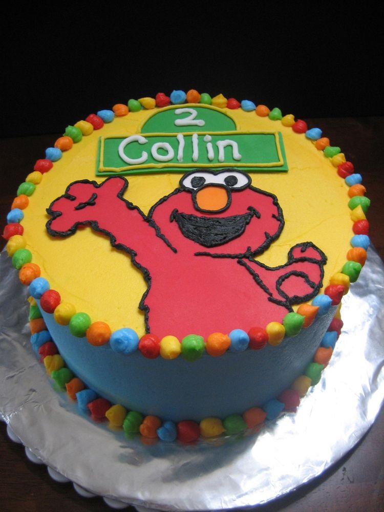 Elmo cake idea