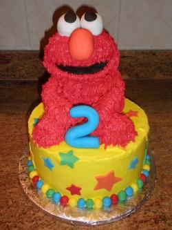 Elmo cake with stars