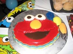 Elmo jello cake