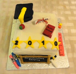 Fondant graduation cake
