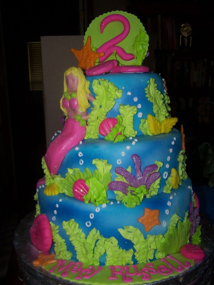 Cake Decoration Sea Theme : Fondant sea themed cake