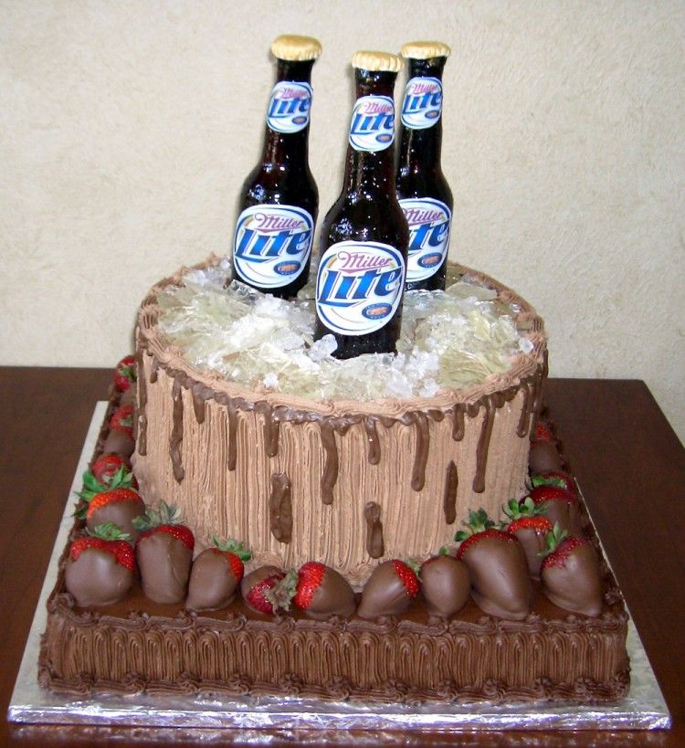 Groom beer cake