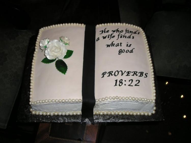 Groom bible cake