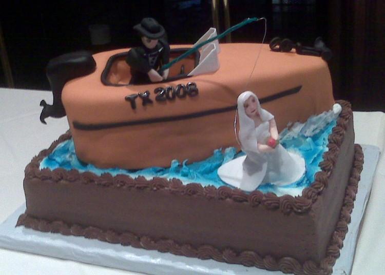 Groom boat cake