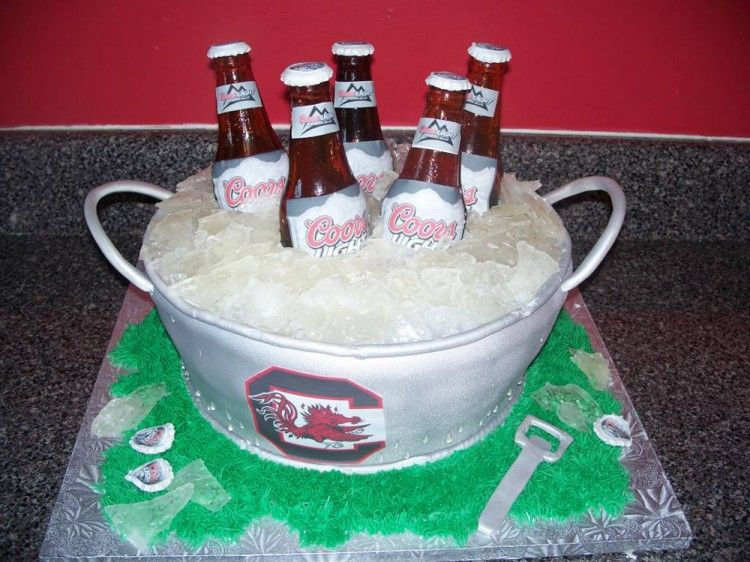 Groom's cake with beer
