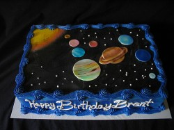 Happy birthday universe cake