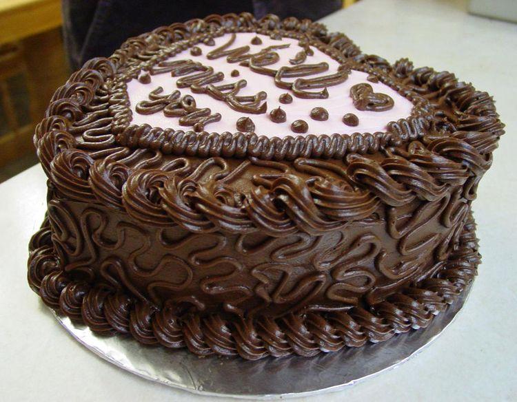 Heart Chocolate Birthday Cake