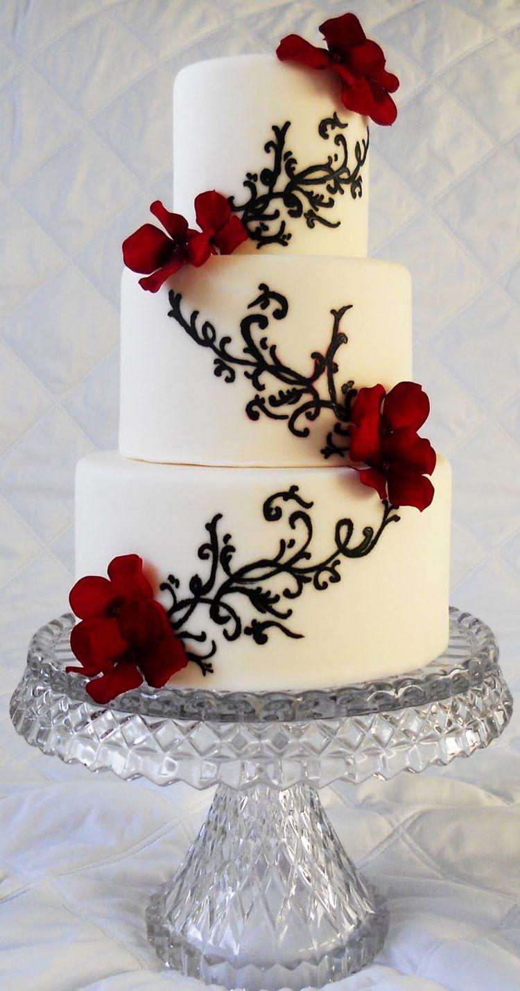 Mini white wedding cake