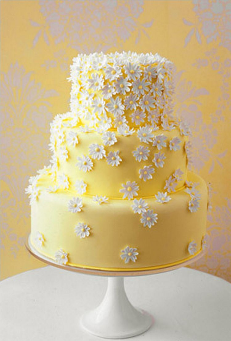 Mini yellow wedding cake