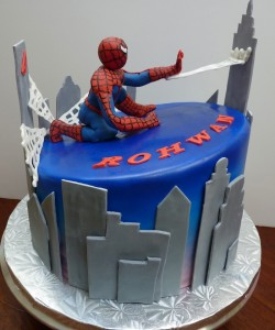 Nice Spiderman cake