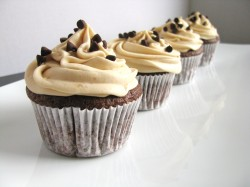 Peanut butter cupcakes with chocolate
