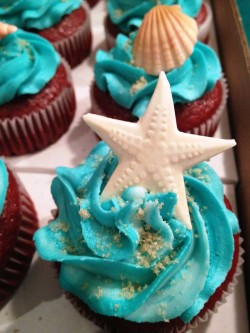 Sea themed cupcake