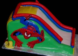 Spiderman slide cake