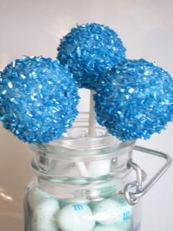 Sparkling christening cake pops