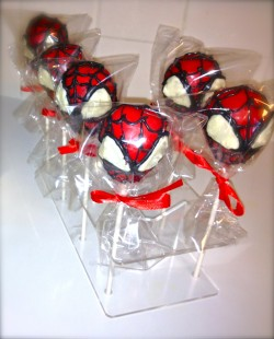 Cute Spider-Man cake pops