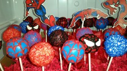 Beautiful Spider-Man cake pops