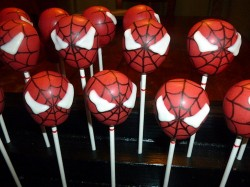 Spider-Man cake pops