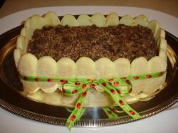 Square tiramisu cake