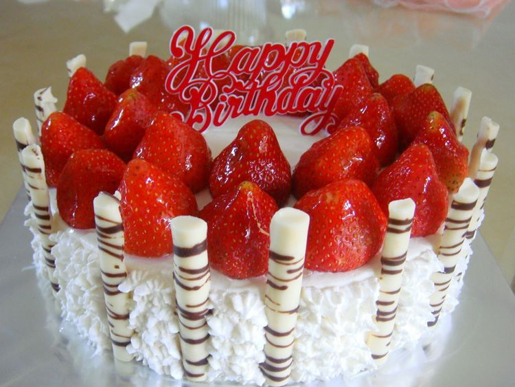 Strawberry Birthday Cake | My blog