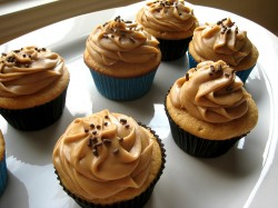 Tasty peanut butter cupcakes